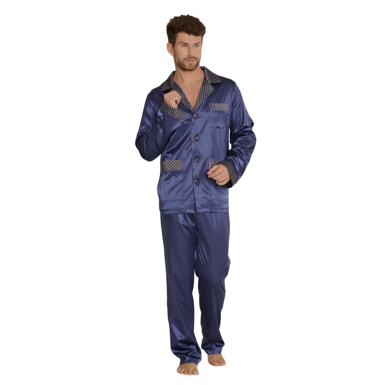 forex lingerie edler und hochwertiger satin pyjama herren schlafanzug. Black Bedroom Furniture Sets. Home Design Ideas