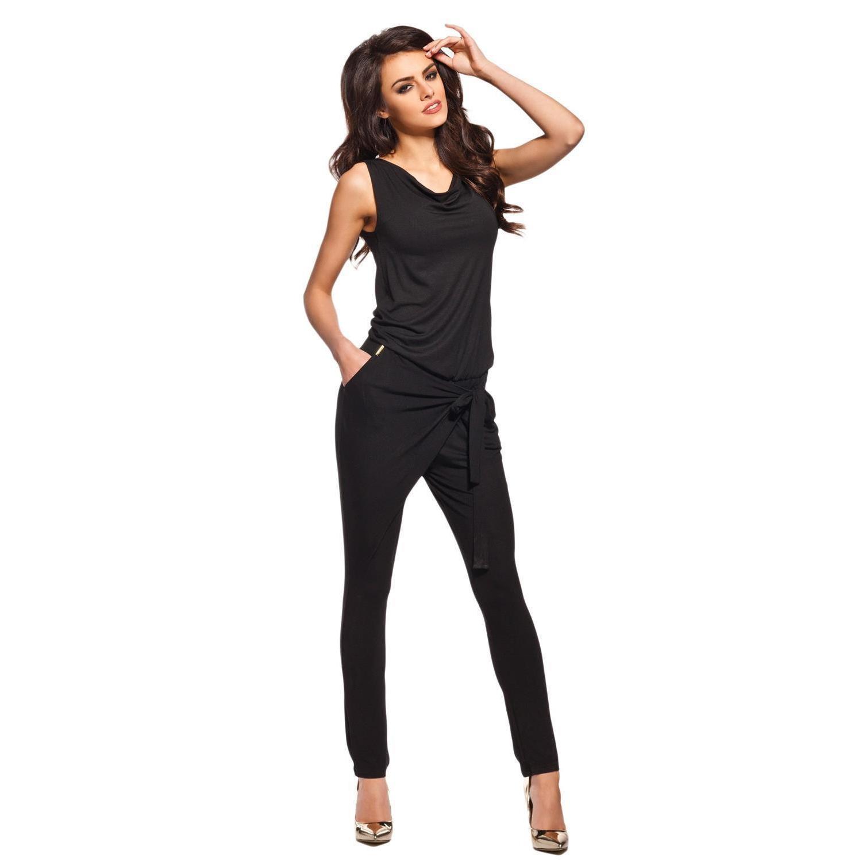 lemoniade stylischer jumpsuit ohne rmel mit elegantem wasserfal. Black Bedroom Furniture Sets. Home Design Ideas