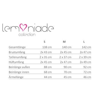 Lemoniade edler Jumpsuit mit schicken 3/4-Ärmeln, großem Reverskragen und lässigem Bindegürtel