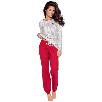 Moonline Seat süßer und bequemer Damen Schlafanzug aus 100% Baumwolle mit Herzchen