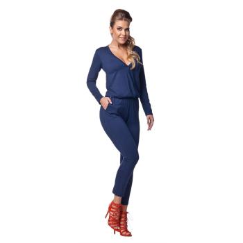 Lemoniade stylischer Jumpsuit mit V-Ausschnitt und langen...
