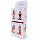 Obsessive Damen Strapsgürtel-Strümpfe 500 in hübscher Geschenkbox, Einheitsgröße S/M/L