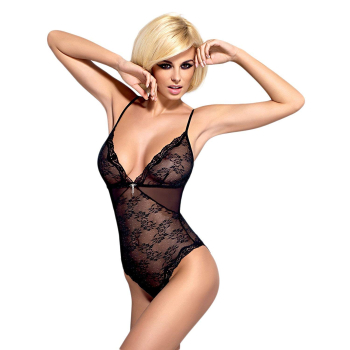 Obsessive Damen Ouvert Body Charms mit Satin-Augenbinde