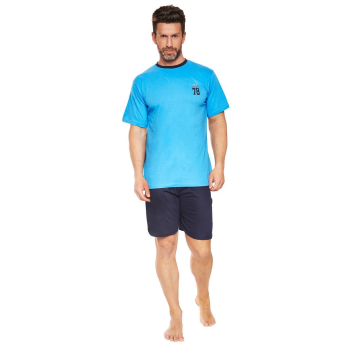 Moonline nightwear Gregor Herren Shorty Schlafanzug aus...