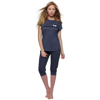 S& SENSIS Arabella Damen Capri-Schlafanzug Kurzarm