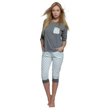 S& SENSIS Molly Damen Capri-Schlafanzug 3/4-Arm