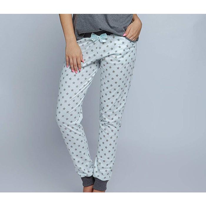 6d97e17e4a ... SENSIS Agnes stillvoller Baumwoll-Pyjama Schlafanzug Hausanzug aus feinem  T-Shirt und bequemer Hose ...