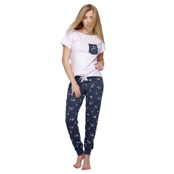 S& SENSIS Flames Damen Schlafanzug Kurzarm