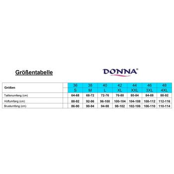 DONNA Andrea Damen Morgenmantel Viskose-Mantel 3/4-Arm