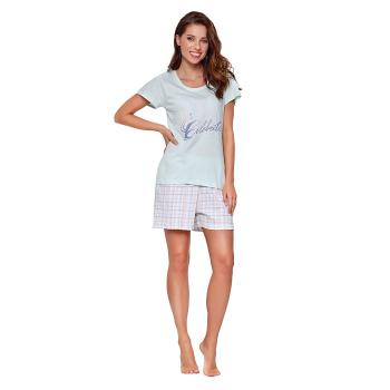Moonline nightwear Ena Damen Shorty mit Schriftzug City
