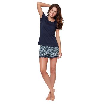 Moonline nightwear Willa Damen modernes Shorty Pyjama aus...