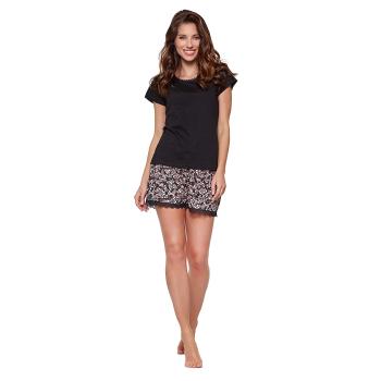 Moonline nightwear Willa Damen modernes Shorty Pyjama aus Baumwolle