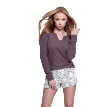 S& SENSIS Beauty Damen Schlafanzug 3/4-Arm