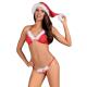 Obsessive Damen Weihnachtskostüm Santastic Set mit Satin-Augenbinde