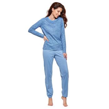 Moonline nightwear Sabella Damen Pyjama aus Baumwolle
