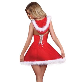 Livia Corsetti Snowflake Damen Weihnachts Dessous Set mit Satin-Augenbinde