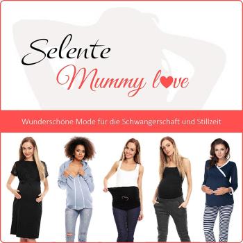 Selente Mummy Love 1445 Damen Umstandskleid mit 3/4-Ärmel