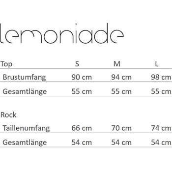 Lemoniade L237 Damen Set aus Rock und Bluse