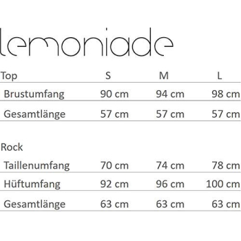 Lemoniade L236 Damen Set aus Rock und Top