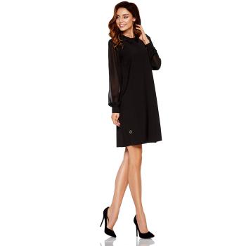 Lemoniade L265 Damen Winter-Kleid Langarm mit Chiffon