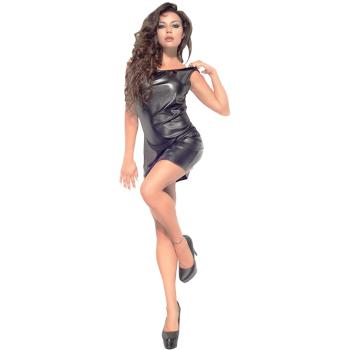 Me Seduce Lotte Damen  Wet-Look Club/Mini-Kleid (made in EU)