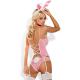 Obsessive Damen Häschen-Kostüm mit Satin-Augenbinde