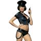 Obsessive Damen Polizei-Kostüm mit exklusiver Satin-Augenbinde