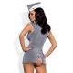 Obsessive Damen sexy Stewardess Kleid-Kostüm mit exklusiver Satin-Augenbinde