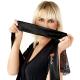 Obsessive Damen Stewardess Kleid-Kostüm mit Satin-Augenbinde