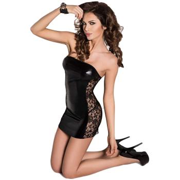 Passion Vena Damen Wet-Look Club/Mini-Kleid (Made in EU)