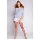 S& SENSIS Lievre Damen Nachtwäsche-Set aus Shirt und Shorts