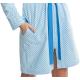 DOROTA FR228 Damen Bademantel mit Reißverschluss und Taschen