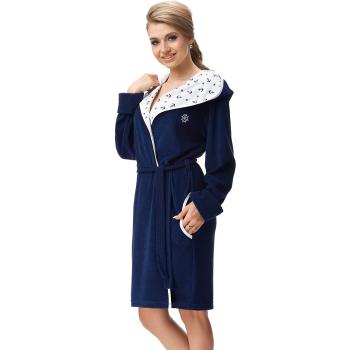 DOROTA FR249 Damen Baumwoll-Bademantel mit Kapuze,