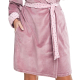 DOROTA FR294 Damen Baumwoll-Bademantel mit Kapuze & Jackentaschen, L (40), puderrosa