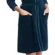 DOROTA FR280 Damen Bademantel mit Reißverschluss und Taschen