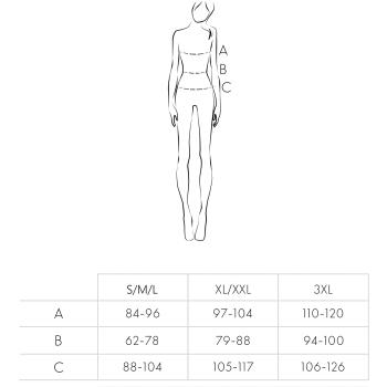 Livia Corsetti Bituinam Damen Ouvert-Bodystocking & Satin-Augenbinde, S/M/L, Schwarz