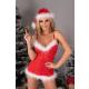 Livia Corsetti Agethe Damen Kleidchen-Panty-Mütze in Weihnachts-Design, mit Satin-Augenbinde