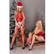 Livia Corsetti Alimena Damen Corsage-Panty-Strümpfe-Mütze in Weihnachts-Design, mit Satin-Augenbinde