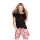 S& SENSIS edler Baumwoll-Pyjama/ Hausanzug Hug, made in EU