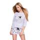 S& SENSIS Damen Baumwoll-Pyjama/ Hausanzug/ Shorty Carina