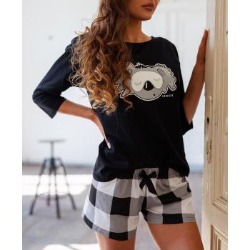 S& SENSIS Nachtwäsche-Set Pyjama Schlafanzug Hausanzug Fluffy, made in EU