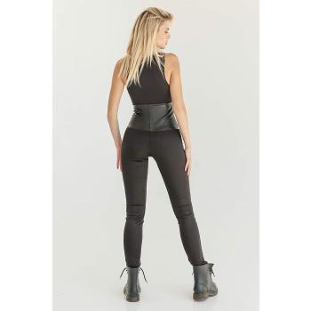 GEPUR 36268 Damen Leggings/Stretch Hose mit trendigen Leder-Gürtel