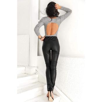 GEPUR 22190 Damen Leggings aus hochwertigem Kunstleder auf Wildlederbasis