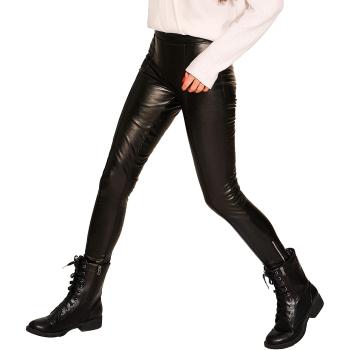 GEPUR 34120 Damen Leggings in Leder-Optik in modischem Design mit Reißverschluss