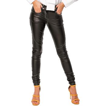 GEPUR 34460 Damen Leggings in Leder-Optik mit kontrastfarbenen Nähten