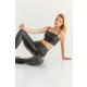 GEPUR 36269 klassische Damen Leggings in Leder-Optik in modischem Design