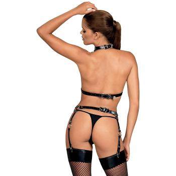 Obsessive A740 Damen Leder Brustgurt in Geschenkbox, Einheitsgröße, Schwarz