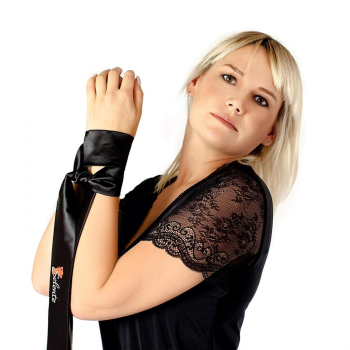 Obsessive Meshlove Damen Dessous-Set aus Corsage mit Strapshaltern, Slip & Satin-Augenbinde