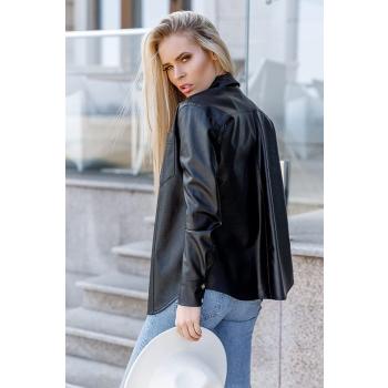 GEPUR 30450 klassisches Damen Hemd aus weichem Kunstleder