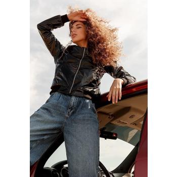 GEPUR 36130 trendige Damen Bomberjacke aus glänzenden Material